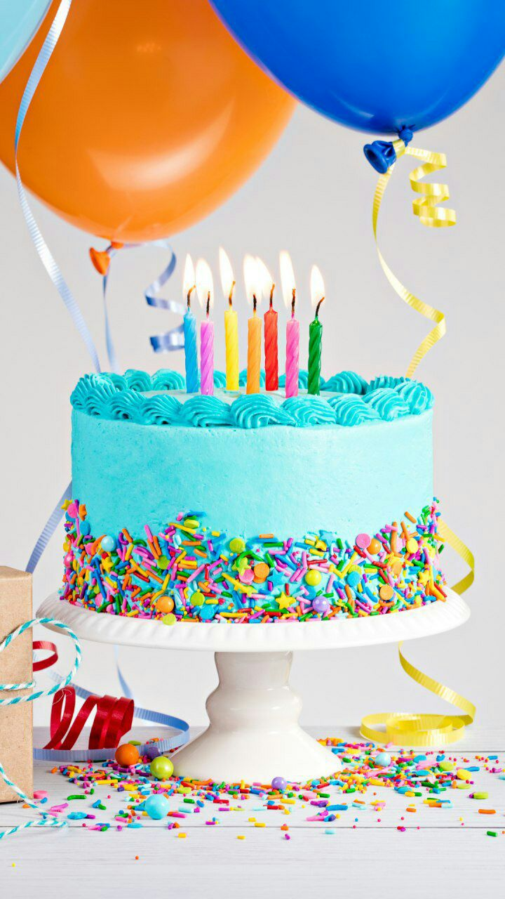 Happy Birthday You Cake Horn Background Vector